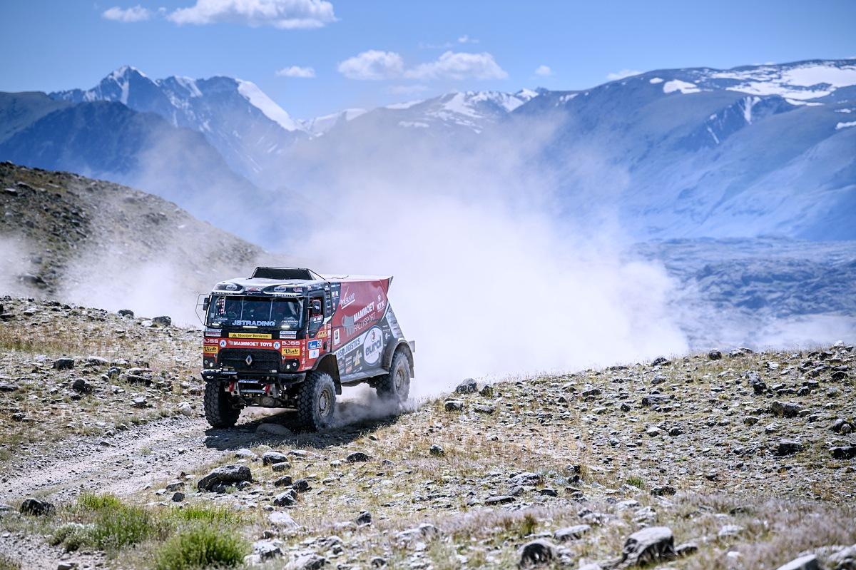 Kamion od MKR Technology ve 3. etapě SIlk Way Rally. Foto: MCH